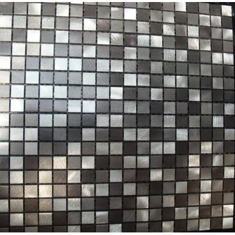 MOSAIQUES ALUMINIUM MASSIF MIX GREY 15/15/8mm