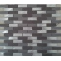 MOSAIQUES ALUMINIUM MASSIF MIX GREY 15/48/8mm