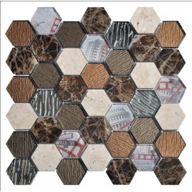 "MOSAIQUES MIX ""V""  HEXAGONE"