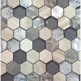 "MOSAIQUES MIX ""W""  HEXAGONE"